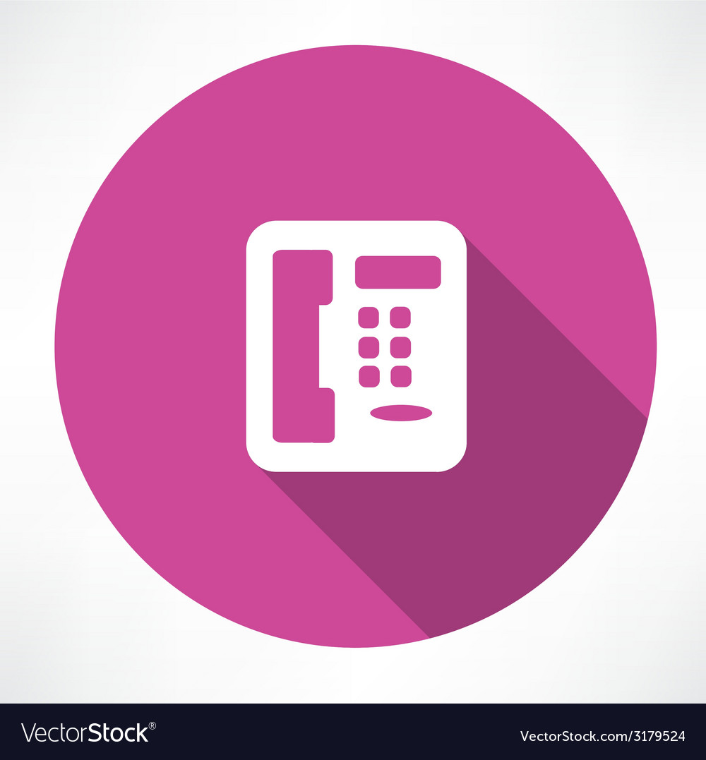 Landline phone icon vector | Price: 1 Credit (USD $1)