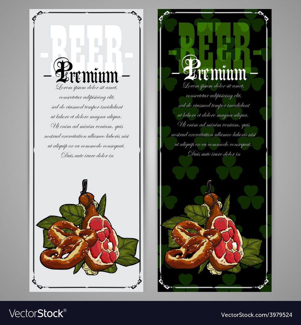 Premium beer document vector | Price: 1 Credit (USD $1)