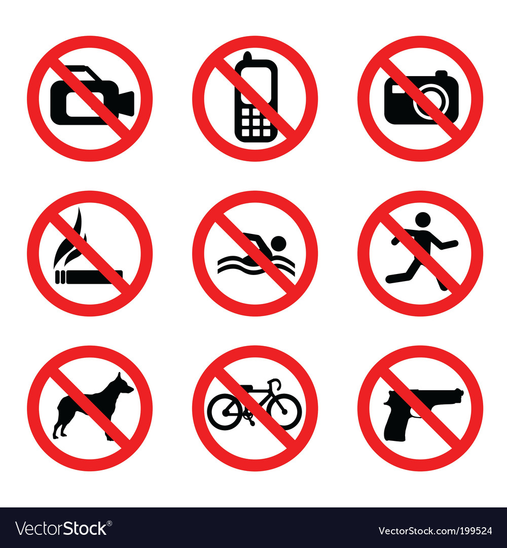 Prohibit sign vector | Price: 1 Credit (USD $1)