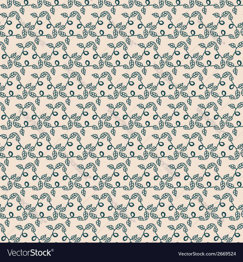 Seamless floral repeating pattern vector | Price: 1 Credit (USD $1)