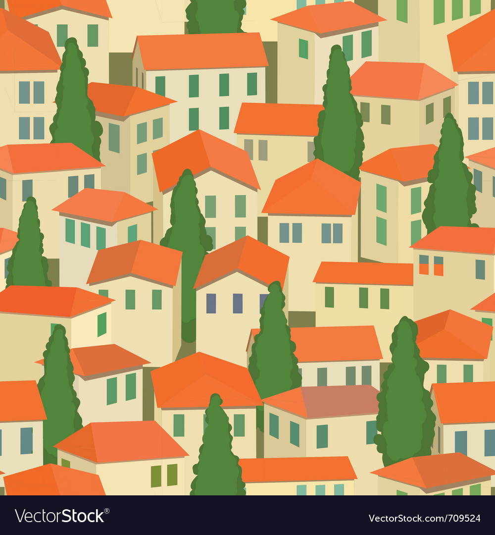 Seamless old town vector | Price: 1 Credit (USD $1)