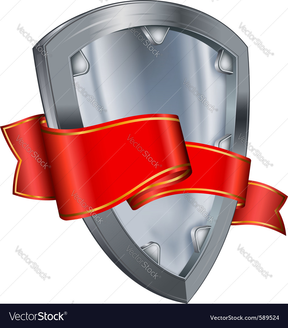 Shield with ribbon vector | Price: 1 Credit (USD $1)