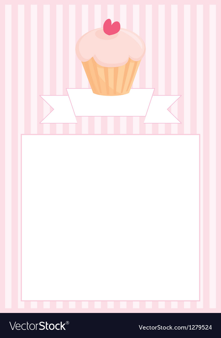 Sweet retro cupcake restaurant menu card vector | Price: 1 Credit (USD $1)