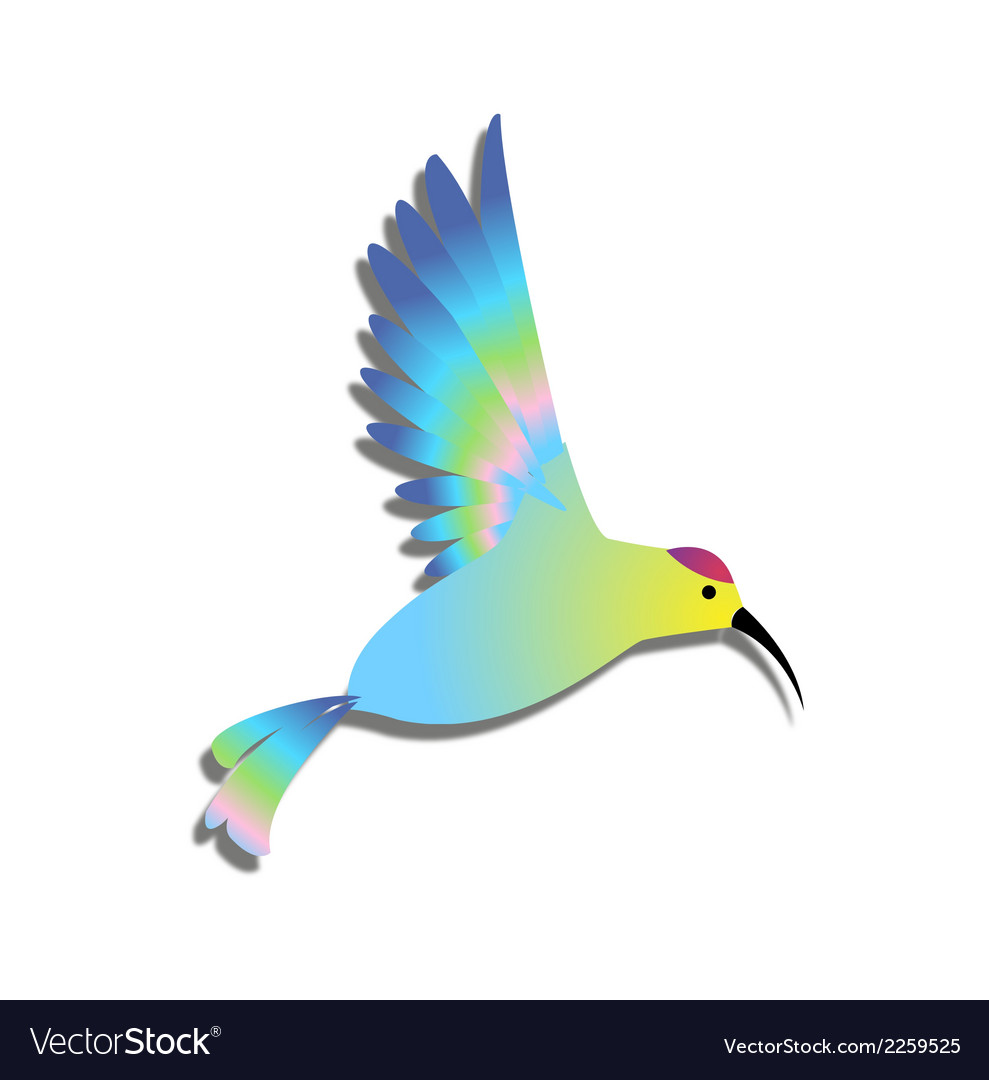 Bird clipart logo colorful vector | Price: 1 Credit (USD $1)