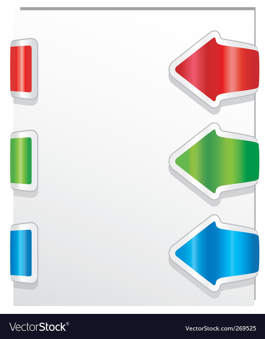 Colorful arrows vector | Price: 1 Credit (USD $1)