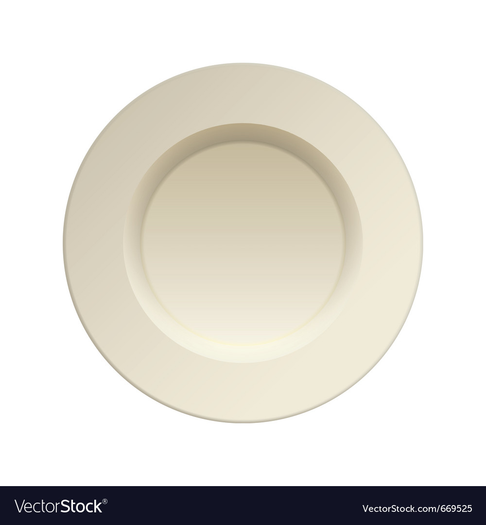 Cream china plate vector | Price: 1 Credit (USD $1)