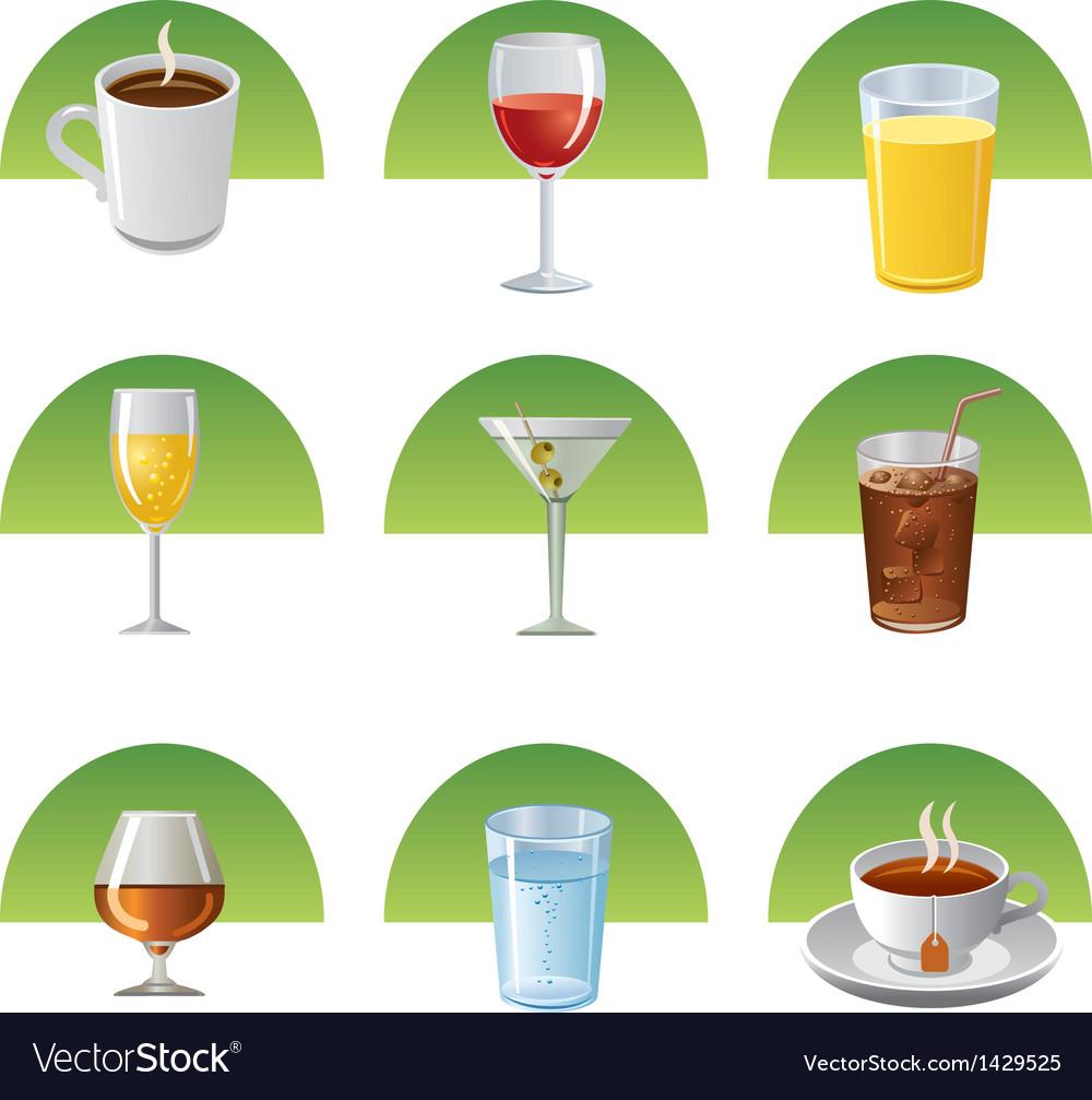 Drinks icon set vector   Price: 1 Credit (USD $1)