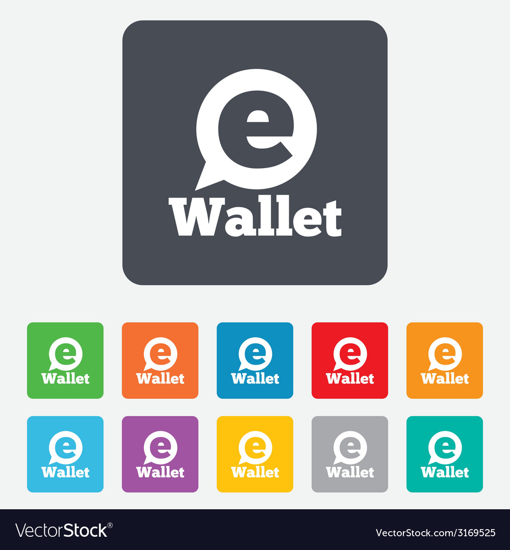 Ewallet sign icon electronic wallet symbol vector | Price: 1 Credit (USD $1)