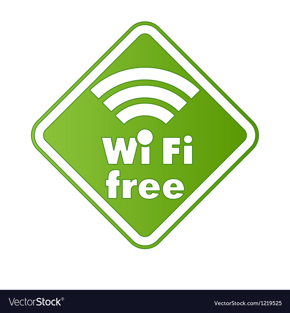 Free wifi and internet sign with square border vector | Price: 1 Credit (USD $1)