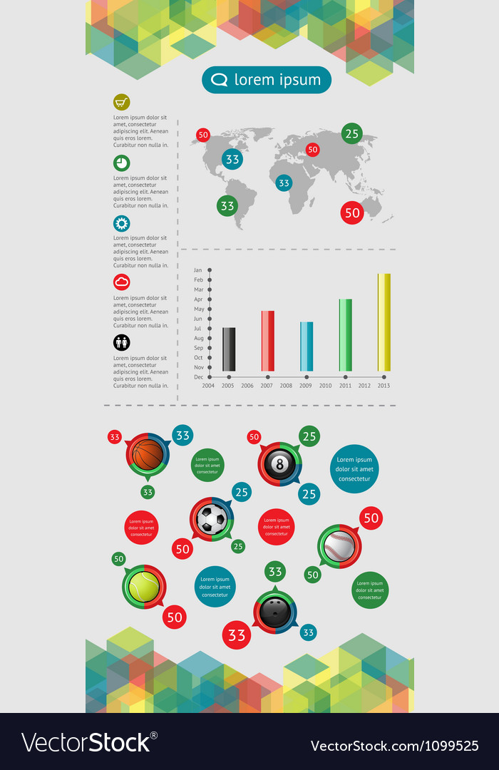 Infographics and web elements vector | Price: 1 Credit (USD $1)