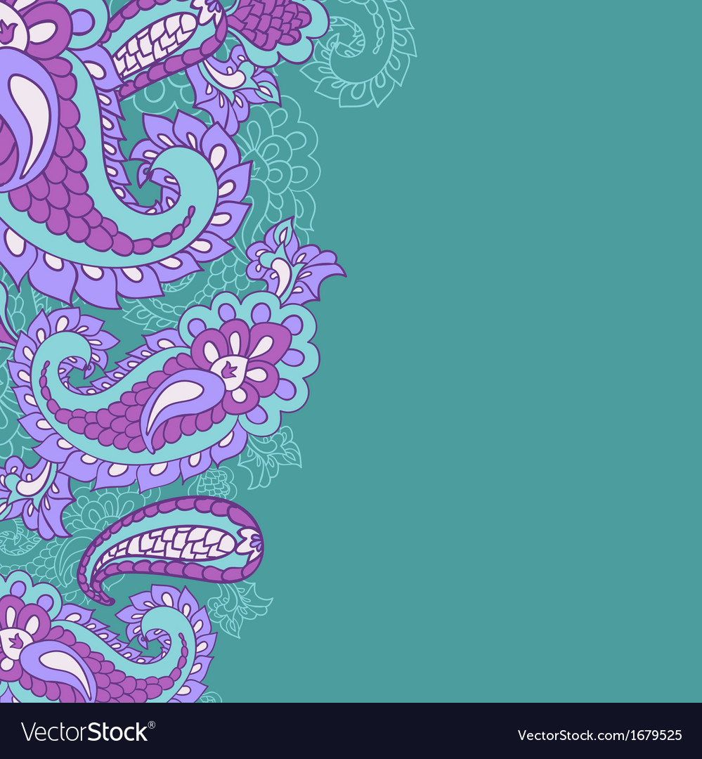 Paisley background and place for your text vector | Price: 1 Credit (USD $1)