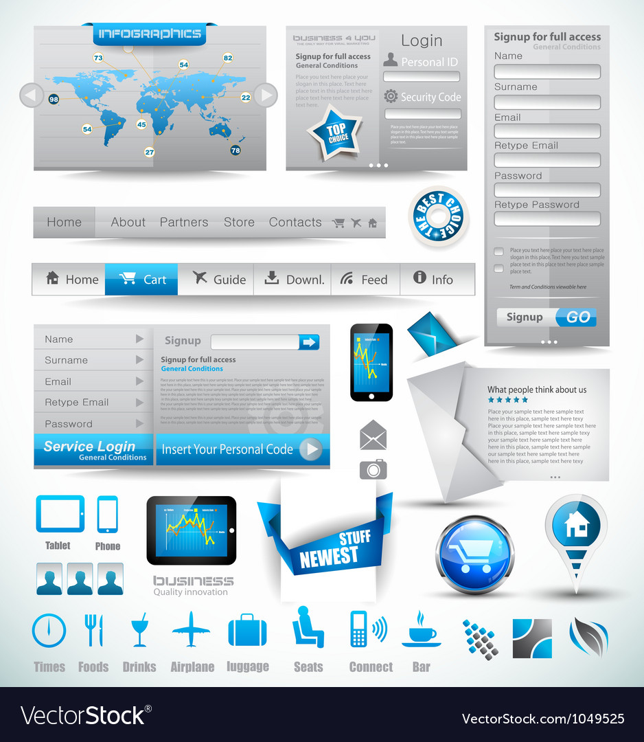 Premium templates and web stuffs vector | Price: 3 Credit (USD $3)