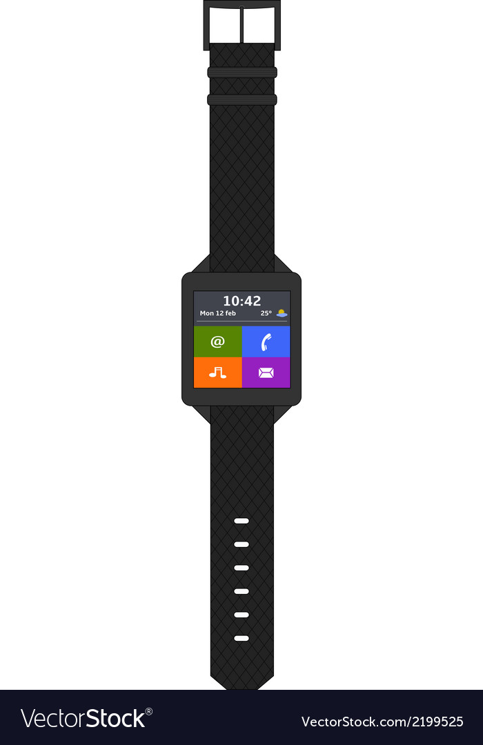 Smartwatch vector | Price: 1 Credit (USD $1)