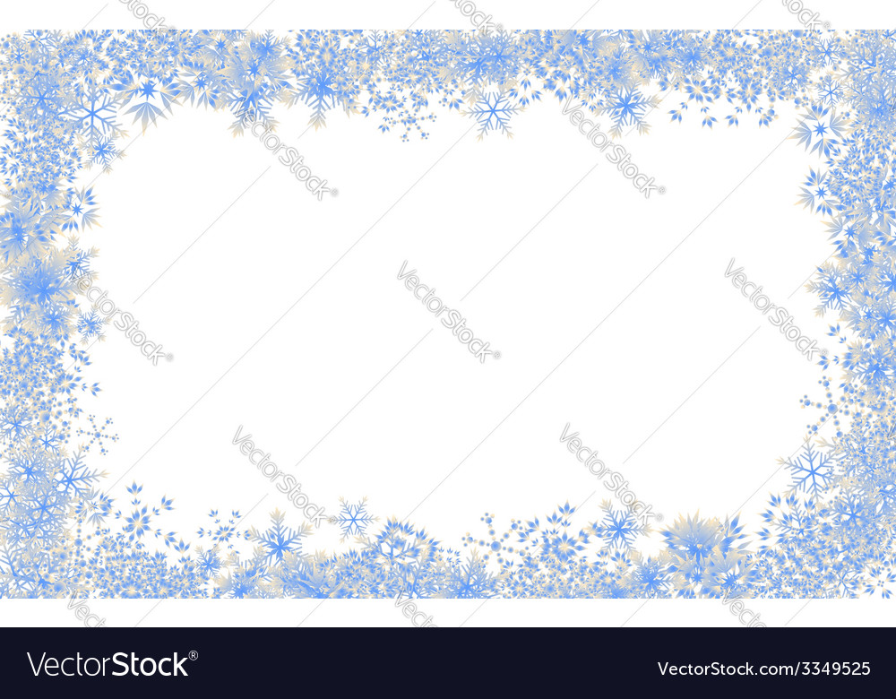 Snowflake frame vector | Price: 1 Credit (USD $1)