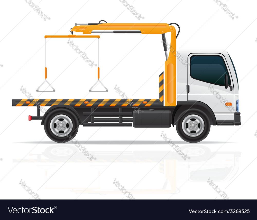 Tow truck 02 vector | Price: 3 Credit (USD $3)