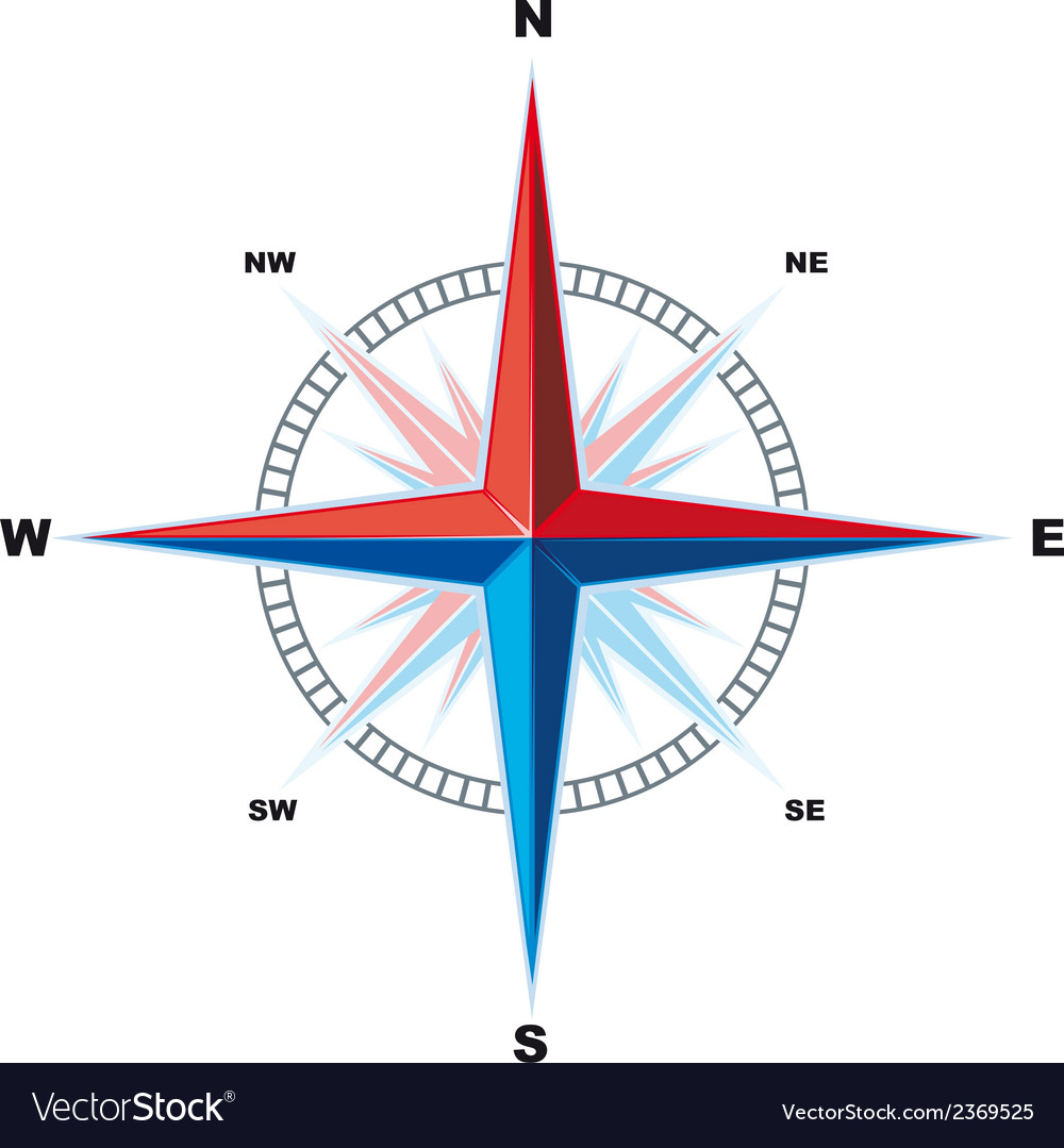 Windrose compass vector | Price: 1 Credit (USD $1)