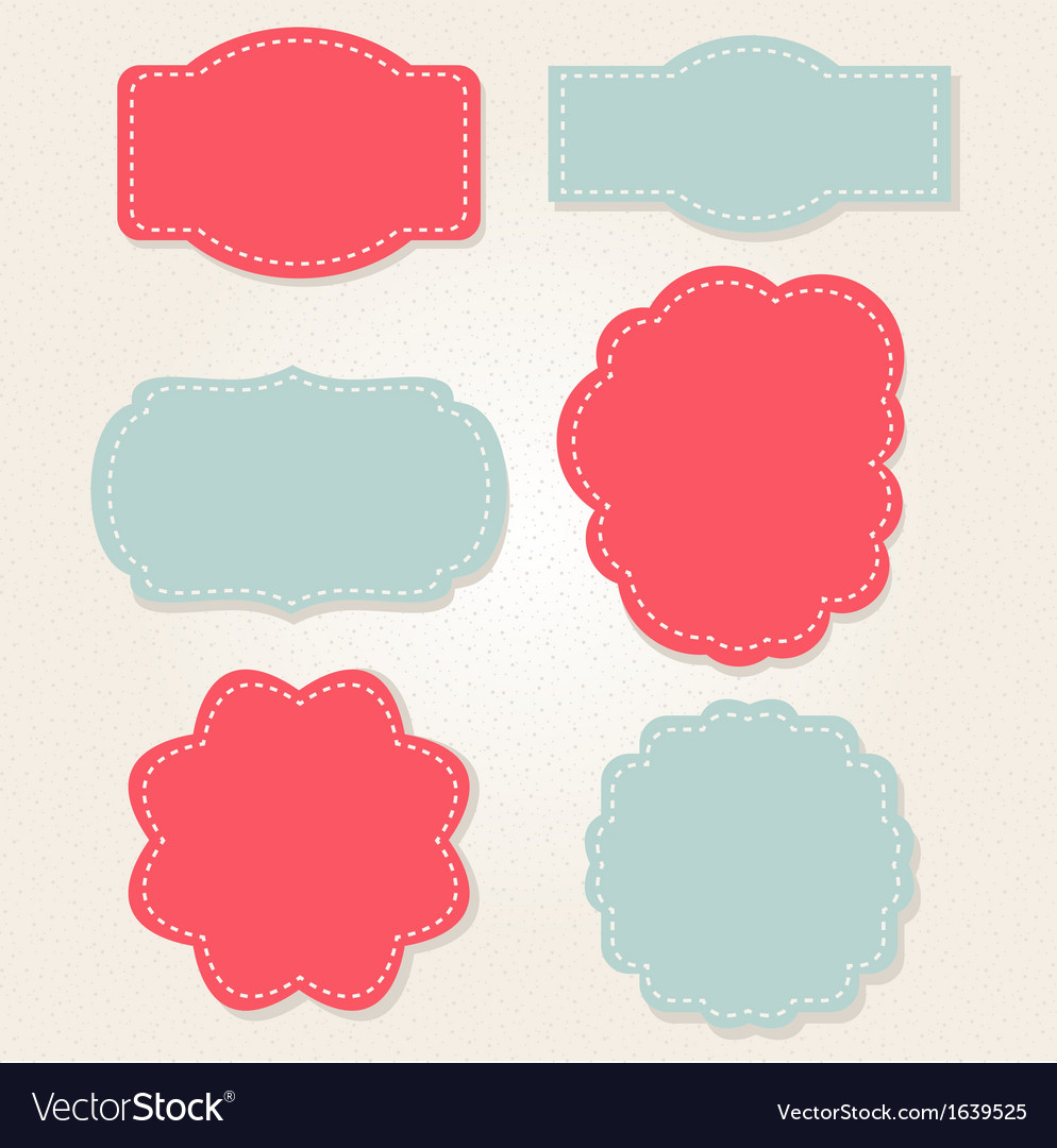 Xmas vintage labels isolated on old beige paper vector | Price: 1 Credit (USD $1)