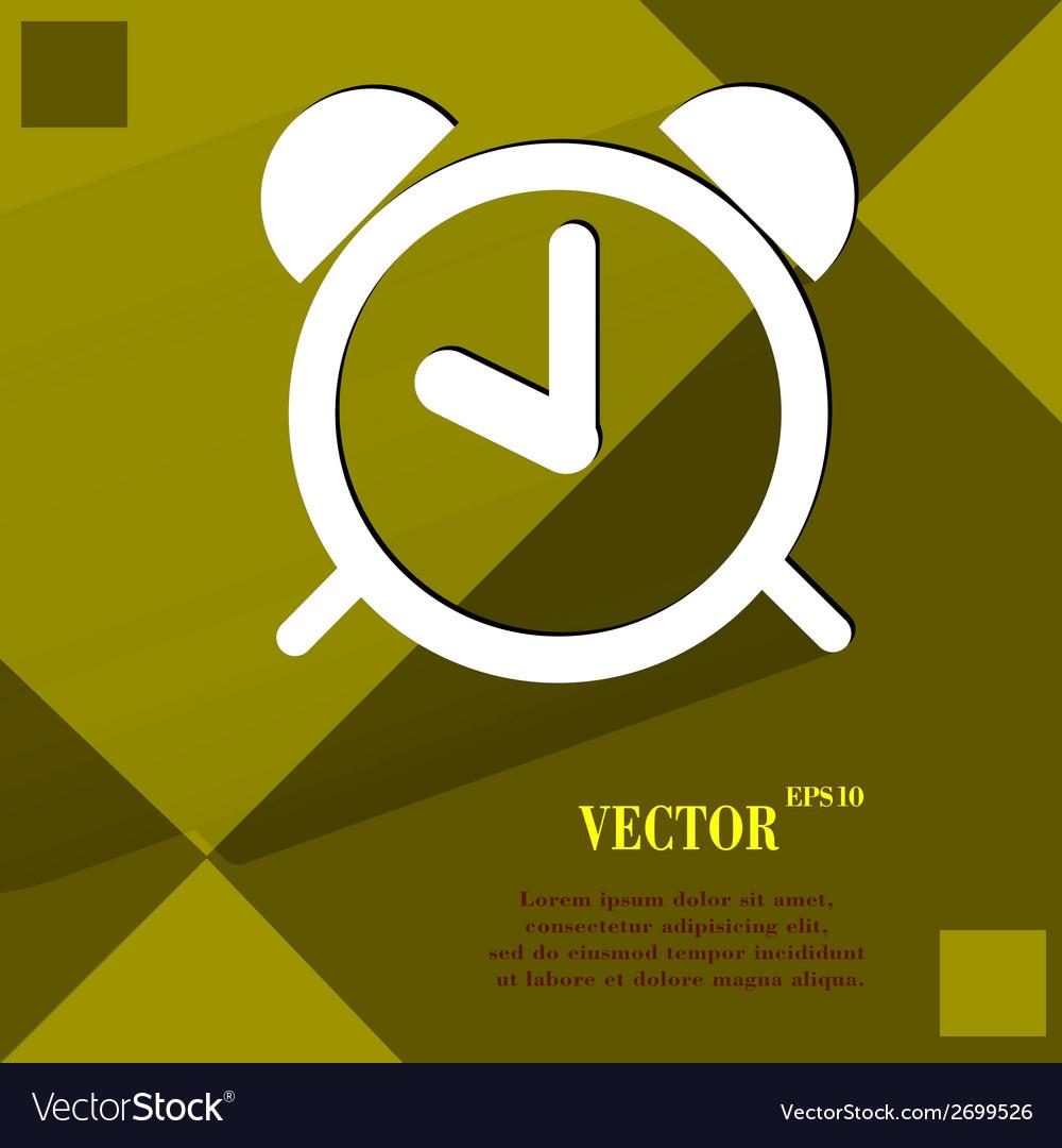 Alarm clock flat modern web design on a flat vector   Price: 1 Credit (USD $1)