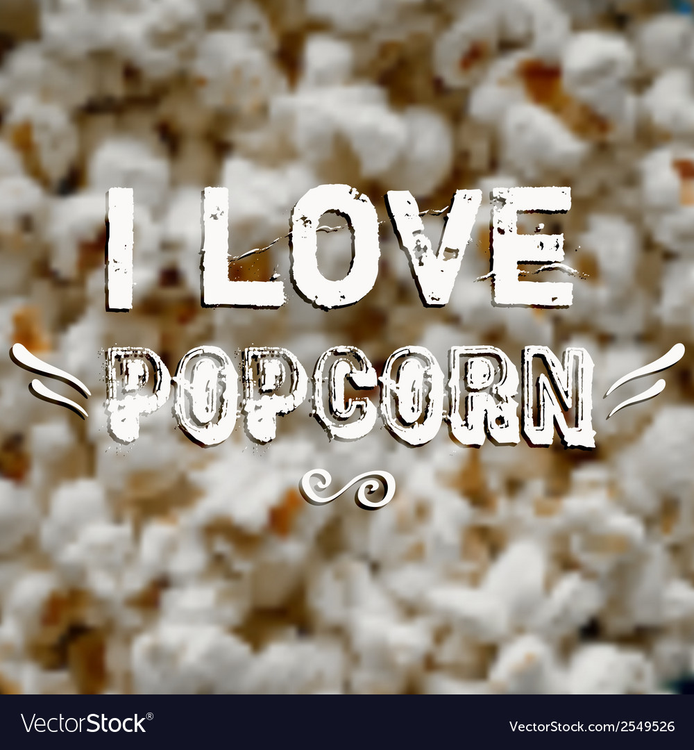 Blurred background with popcorn and label design vector | Price: 1 Credit (USD $1)