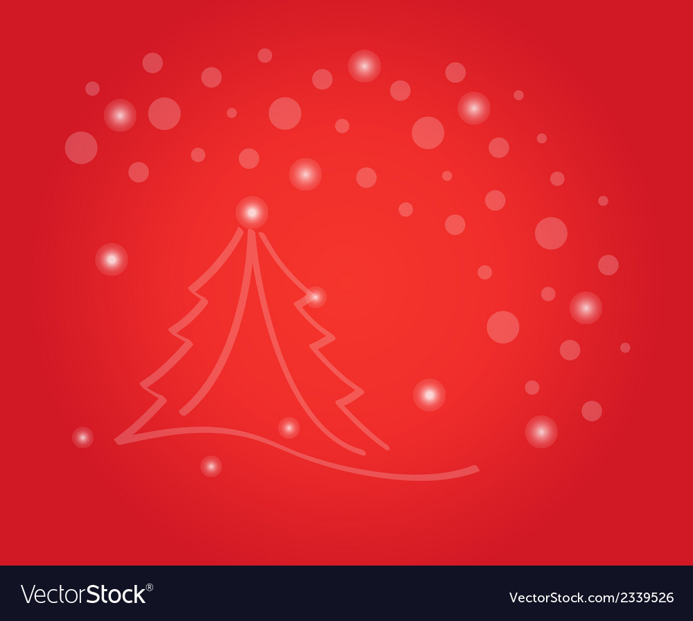Christmas card with tree and stars vector | Price: 1 Credit (USD $1)