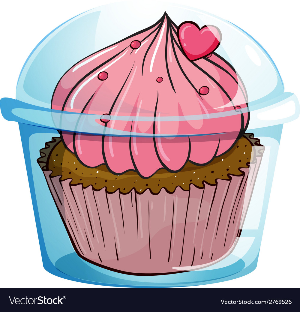Close up cupcake vector | Price: 1 Credit (USD $1)
