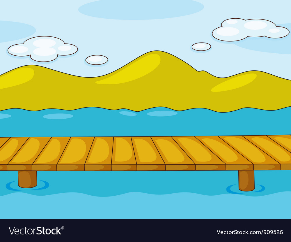 Empty pier vector | Price: 3 Credit (USD $3)