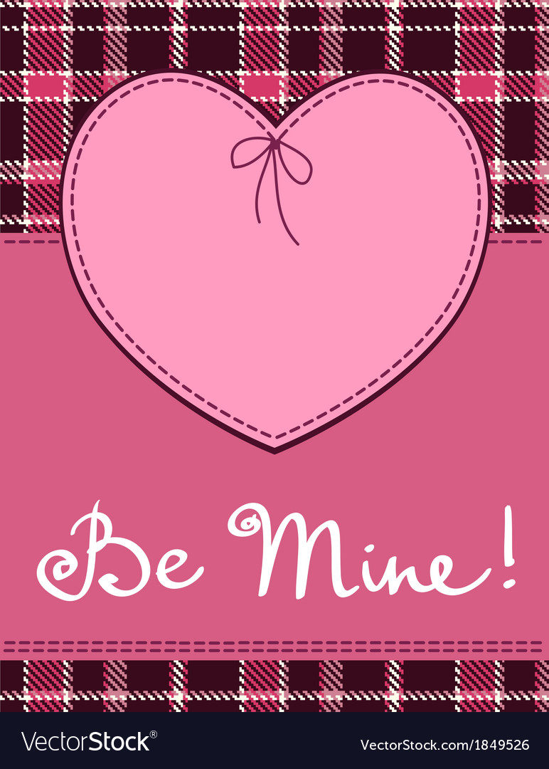 Heart in stitched textile style pink heart textile vector | Price: 1 Credit (USD $1)