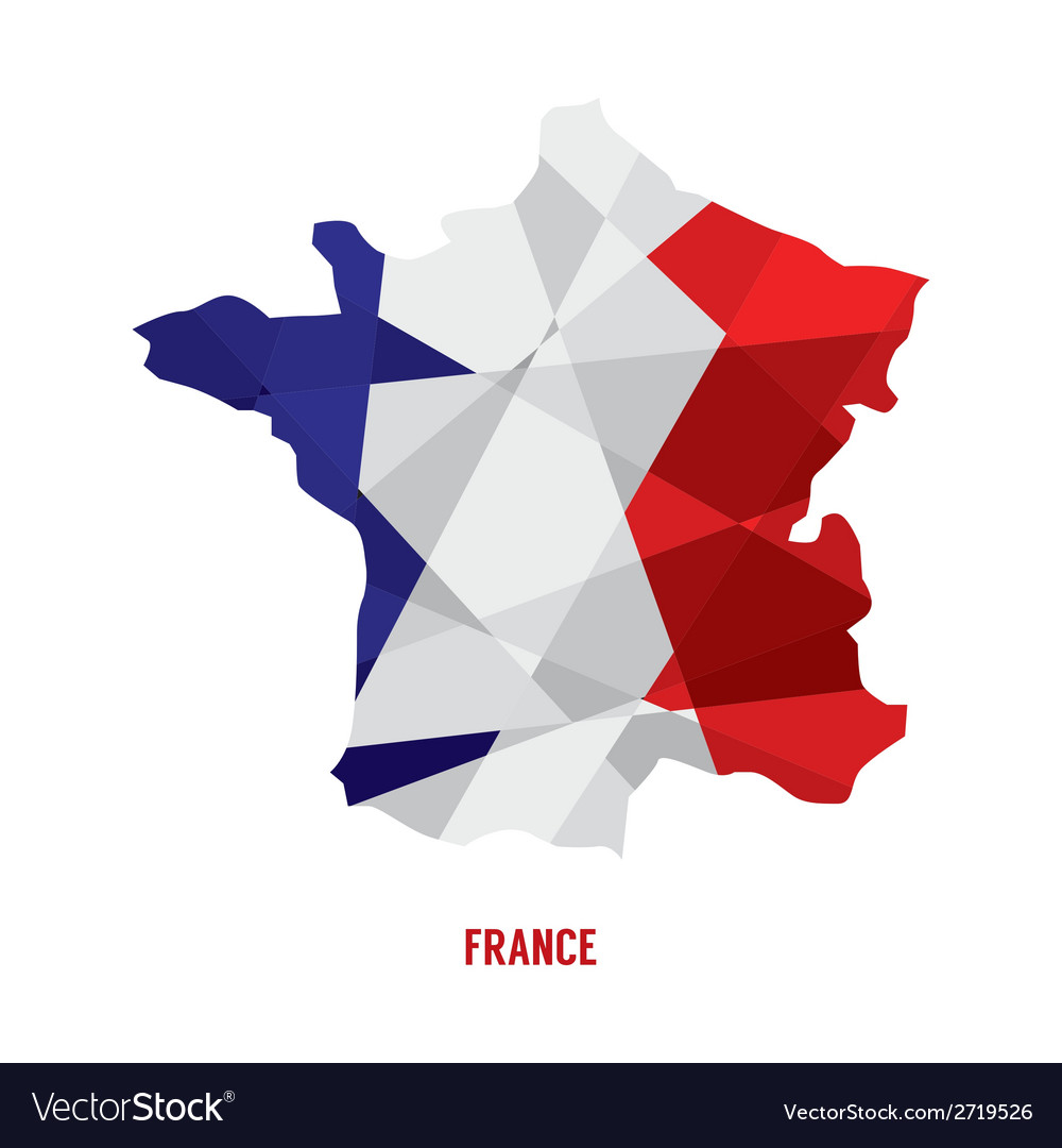 Map of france vector | Price: 1 Credit (USD $1)