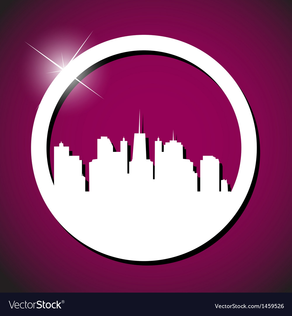 Town icon vector | Price: 1 Credit (USD $1)