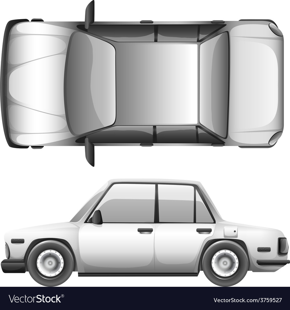 A silver car vector   Price: 1 Credit (USD $1)