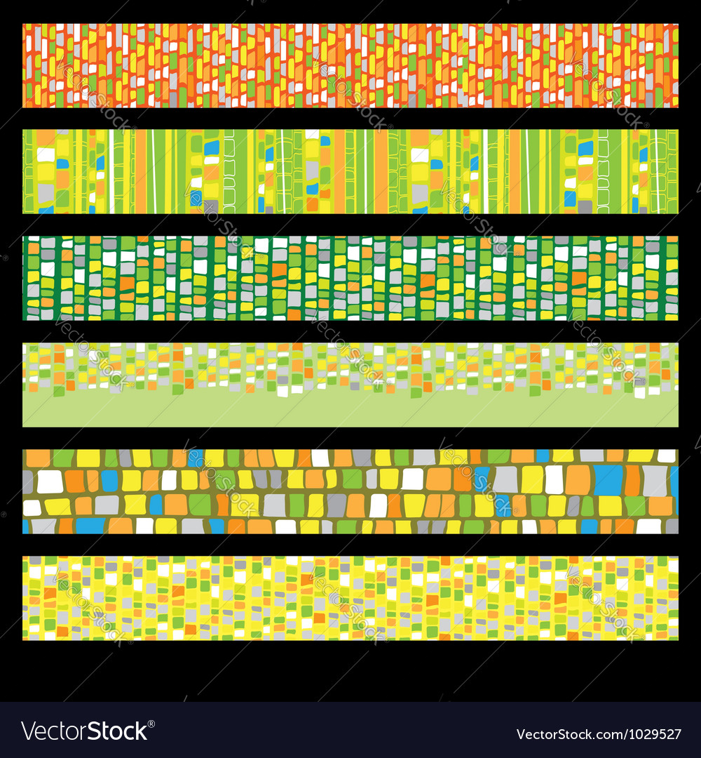 Abstract mosaic banners vector | Price: 1 Credit (USD $1)