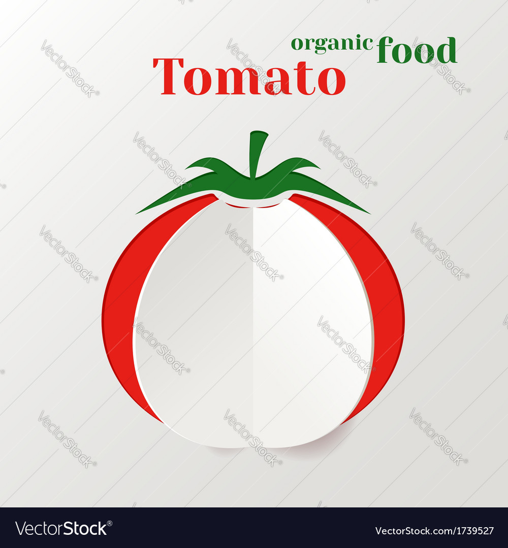 Abstract paper tomato vector | Price: 1 Credit (USD $1)