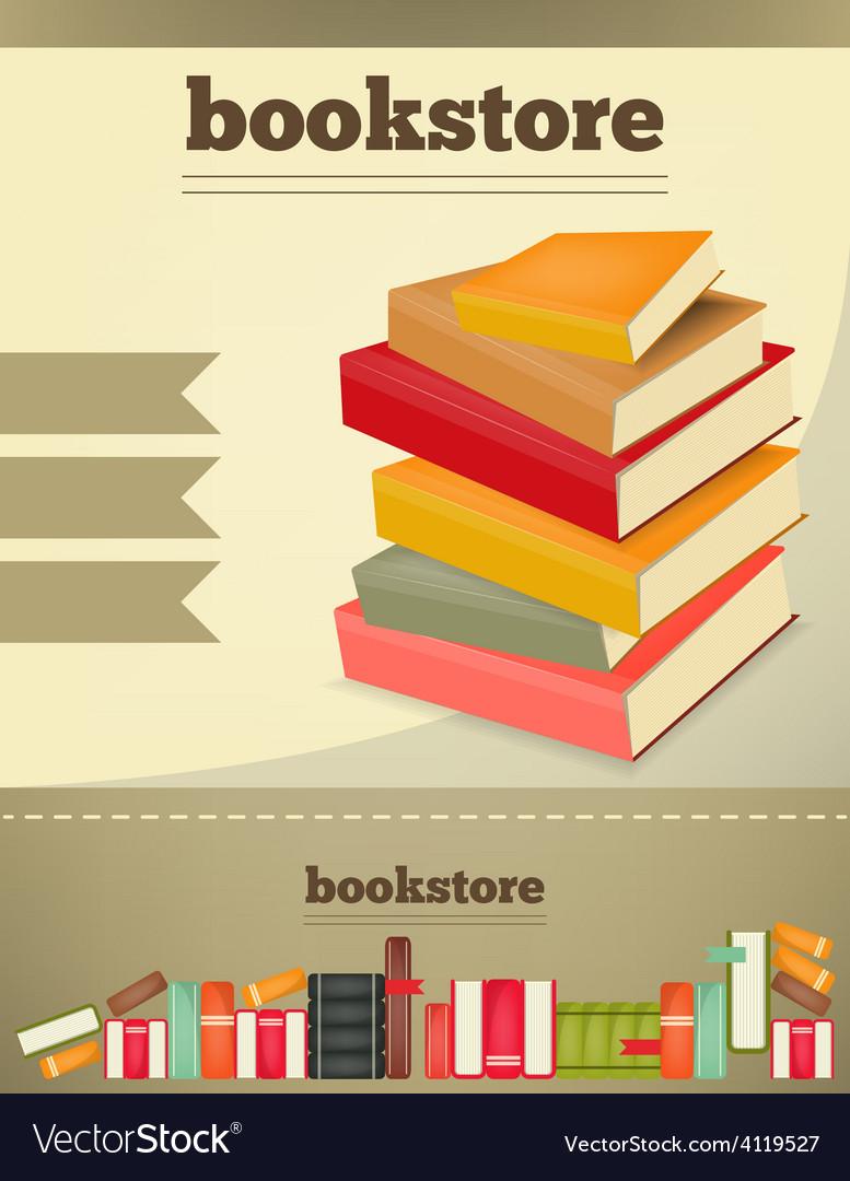 Bookstore vert vector | Price: 3 Credit (USD $3)