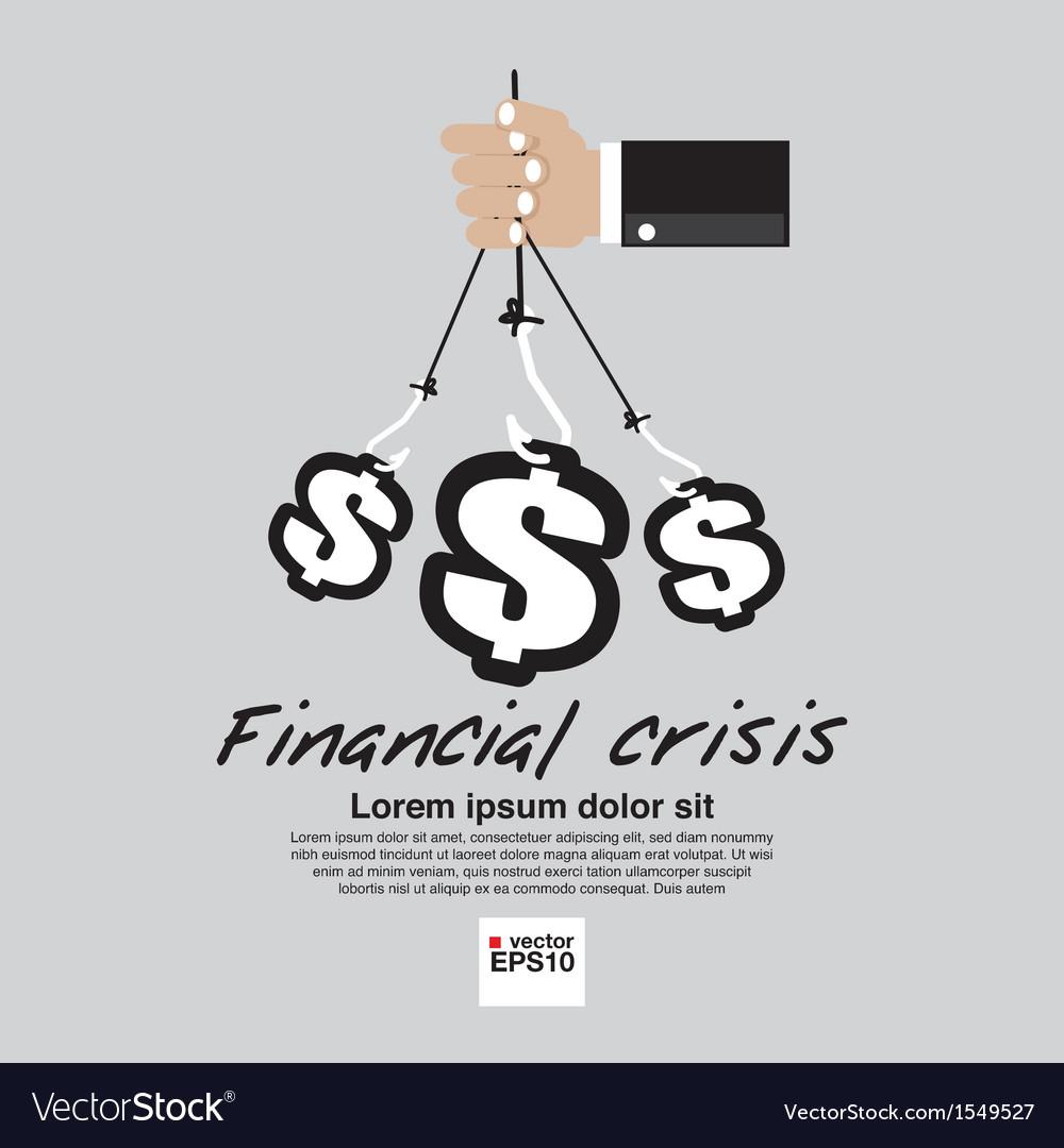 Financial crisis conceptual ep vector | Price: 1 Credit (USD $1)