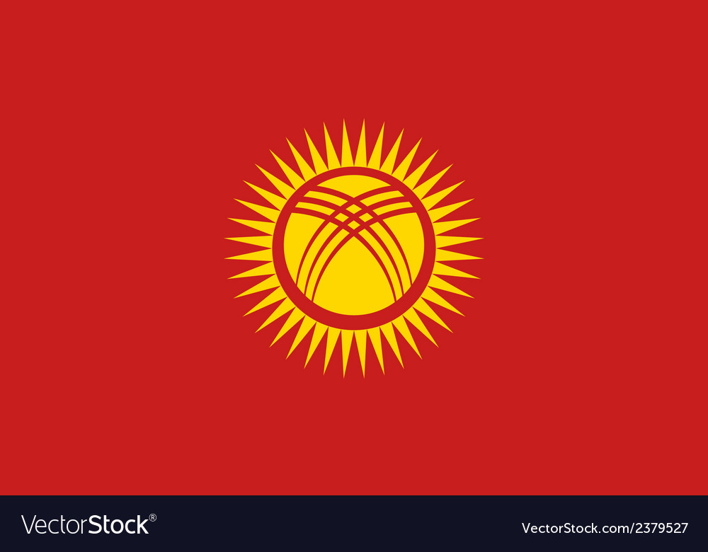 Flag of kyrgyzstan vector | Price: 1 Credit (USD $1)