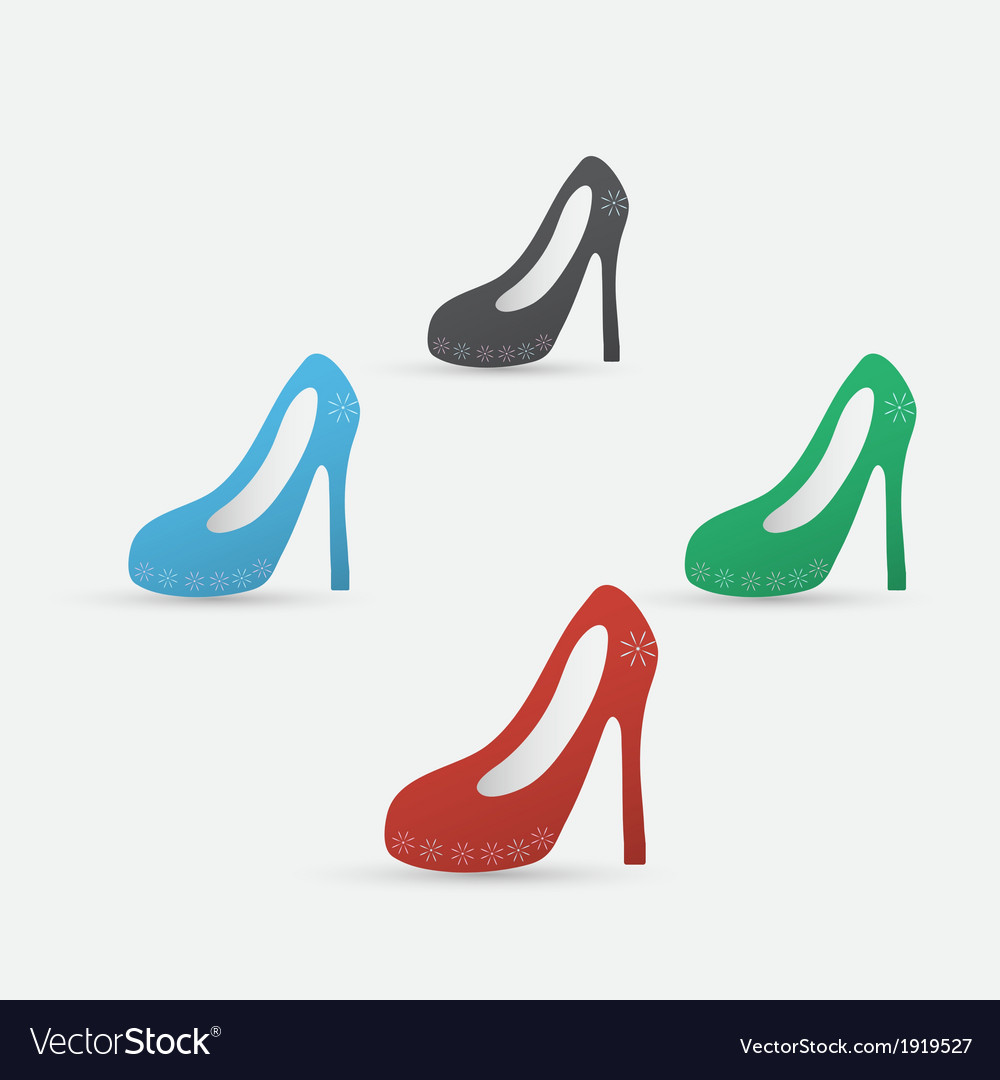 High heel shoes icon vector | Price: 1 Credit (USD $1)