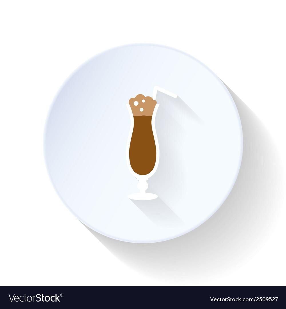 Latte flat icon vector | Price: 1 Credit (USD $1)