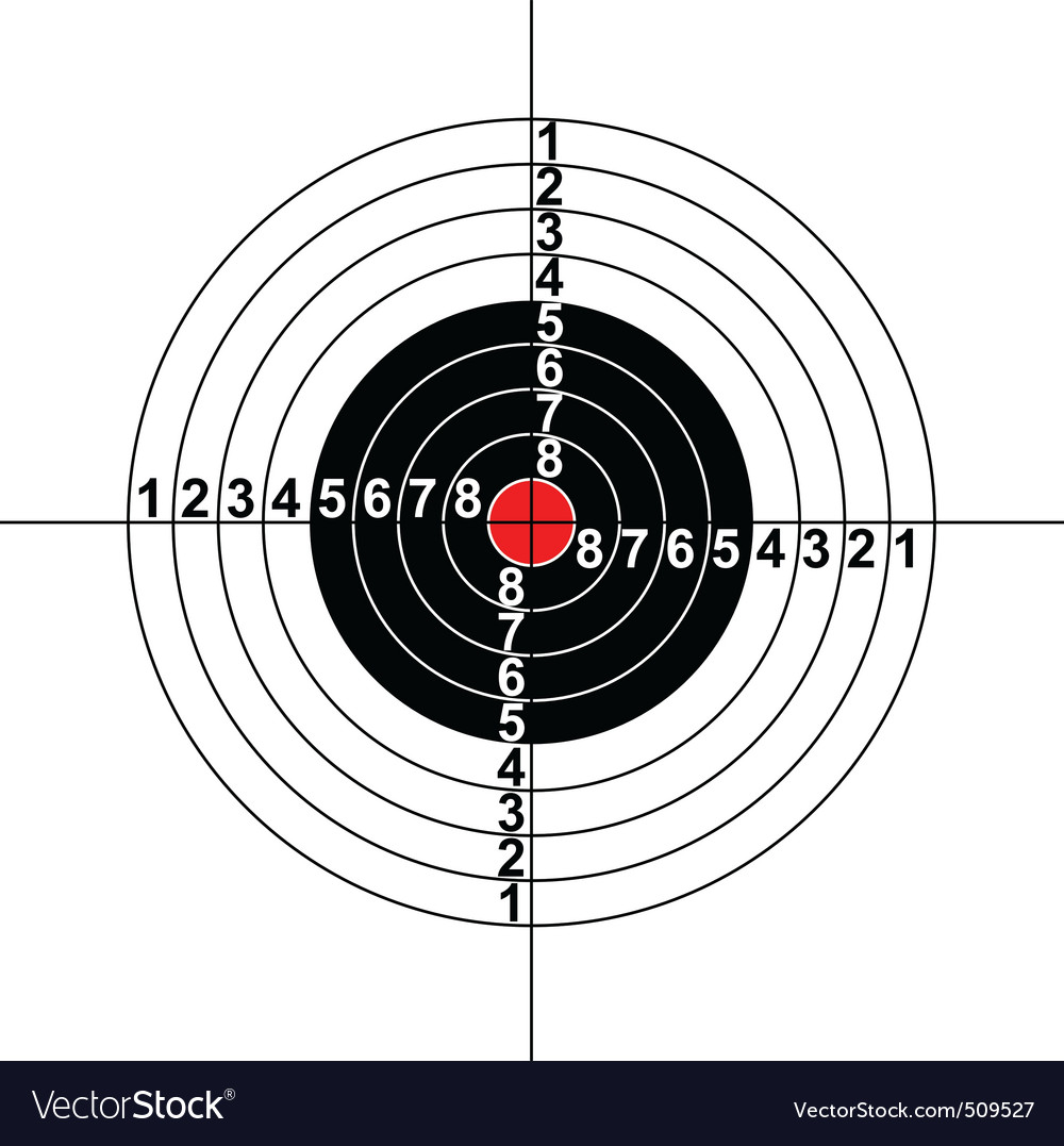 Illustration of a target symbol vector | Price: 1 Credit (USD $1)