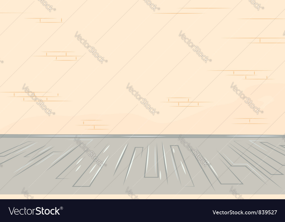 Old brick wall wooden floor vector | Price: 1 Credit (USD $1)