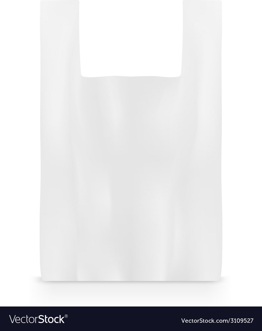 Plastic bag on white vector | Price: 1 Credit (USD $1)