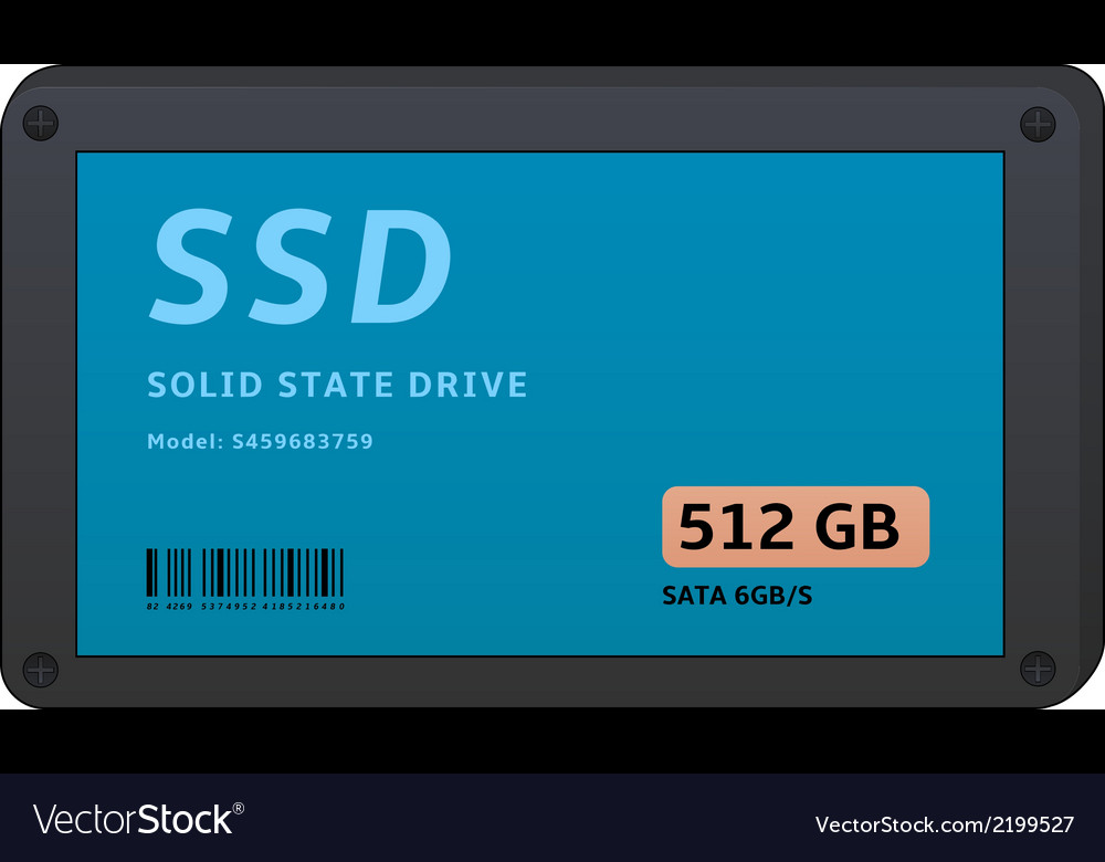 Solid state drives vector | Price: 1 Credit (USD $1)