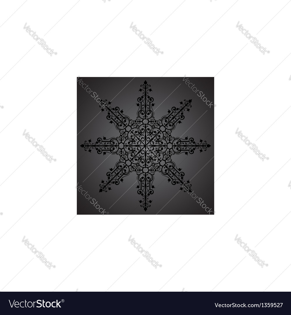 Vintage background ornament black star vector | Price: 1 Credit (USD $1)