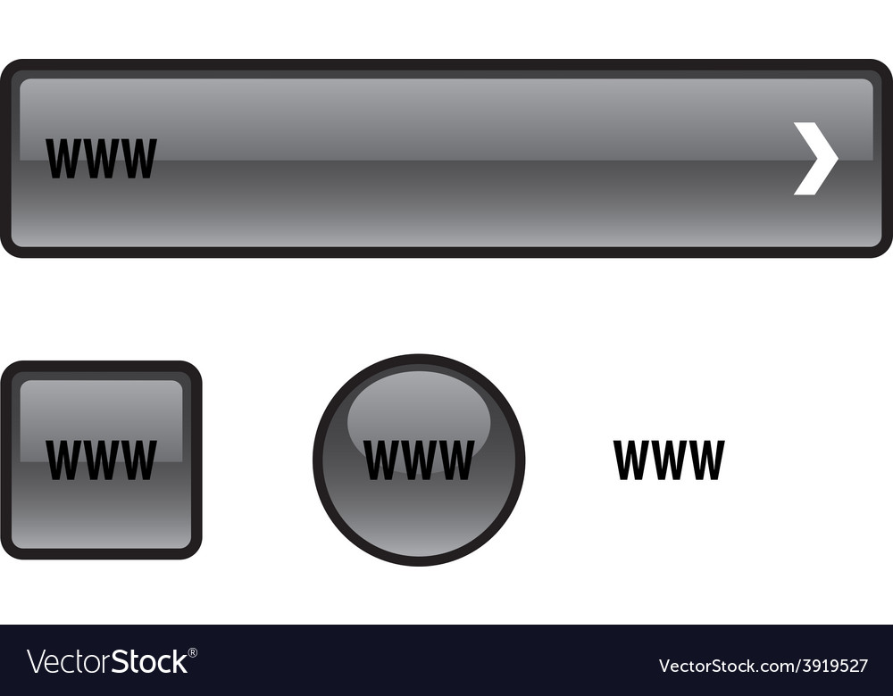 Www button set vector | Price: 1 Credit (USD $1)