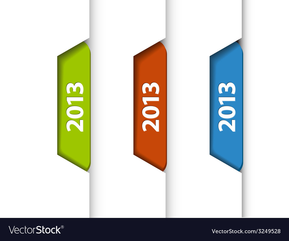 2013 labels stickers on the edge of the web page vector | Price: 1 Credit (USD $1)