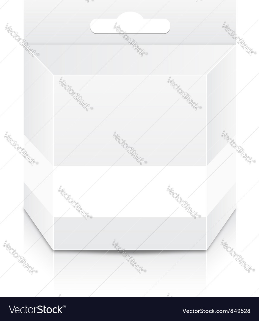 Blank cartridge box template vector | Price: 1 Credit (USD $1)
