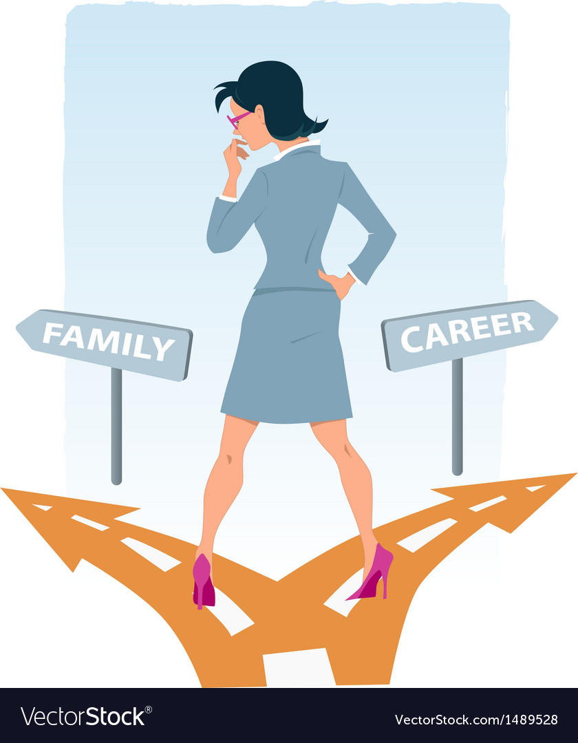 Career or family vector | Price: 1 Credit (USD $1)