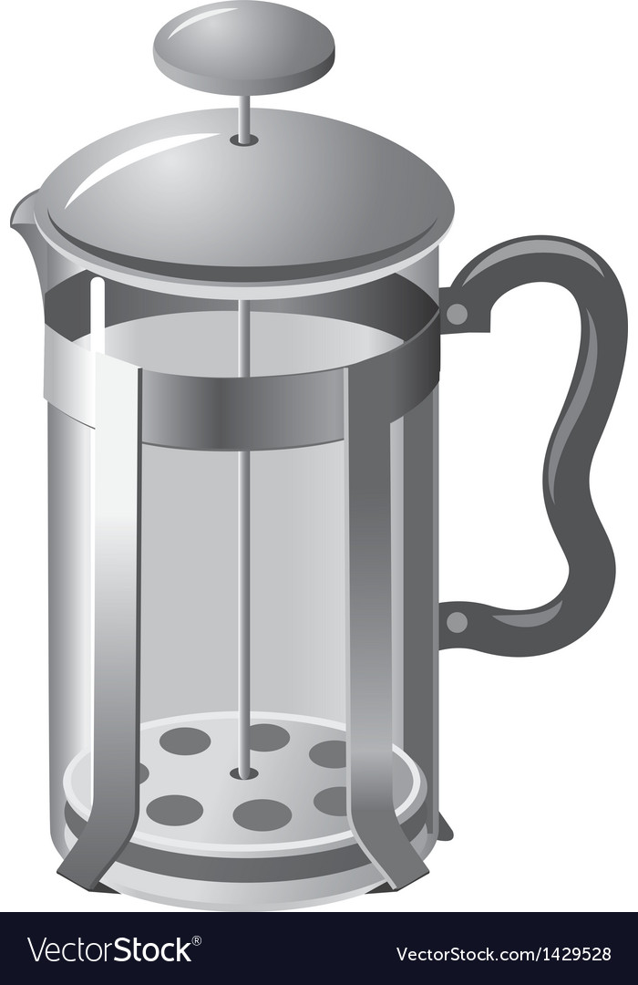 French press teapot vector | Price: 1 Credit (USD $1)