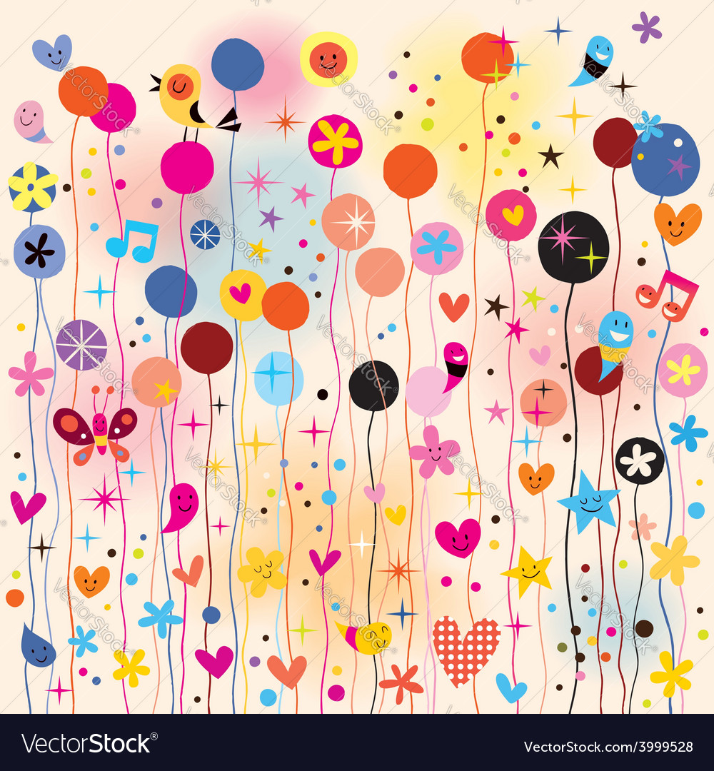 Fun colorful background vector   Price: 1 Credit (USD $1)