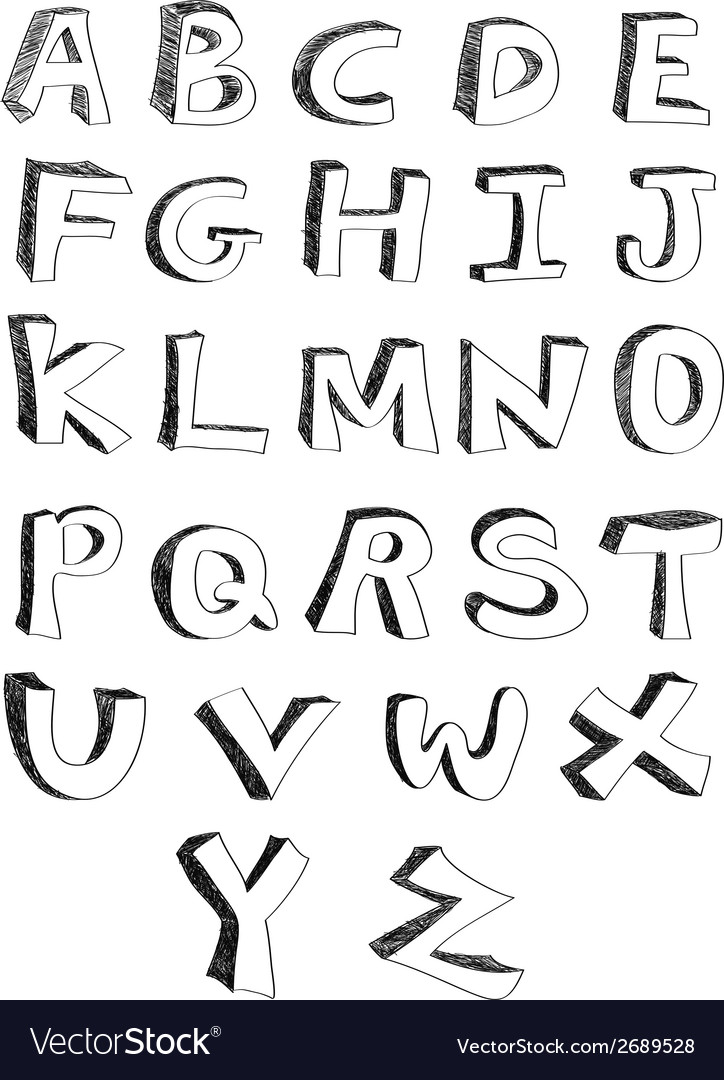 Hand written alphabets vector | Price: 1 Credit (USD $1)