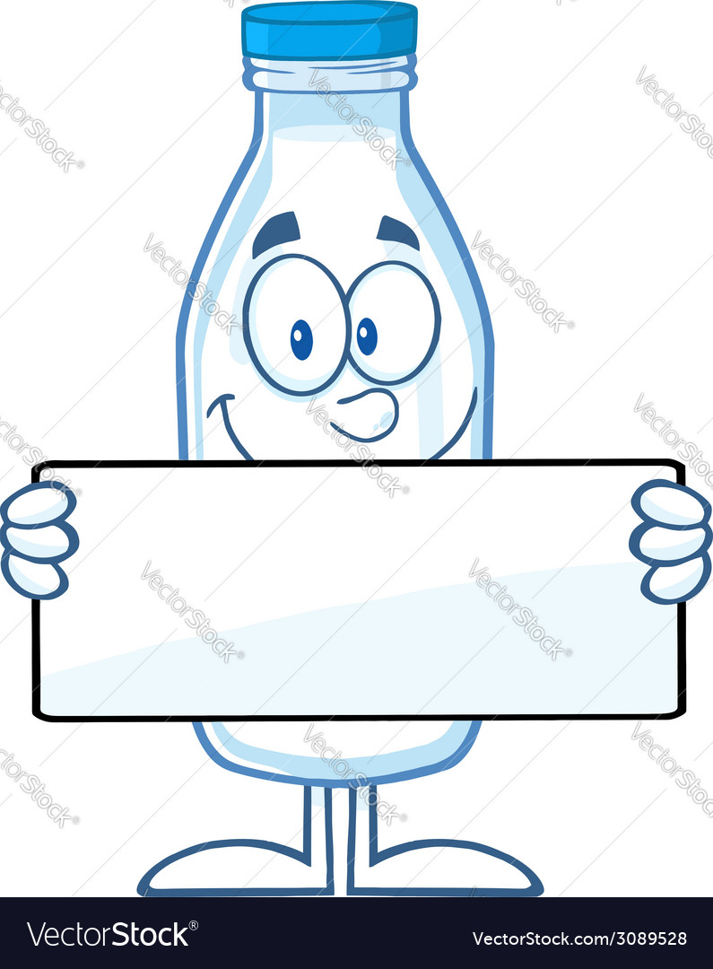Milk bottle cartoon vector | Price: 1 Credit (USD $1)